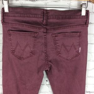 MOTHER Jeans - Mother The Runaway Jeans in Pop! Raspberry Size 28